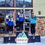 Van Houtte GS, Norquay - Charley Field 1st, Stephanie Gartner 2nd Overall (2 days) PHOTO CREDIT: Gregor Druzina