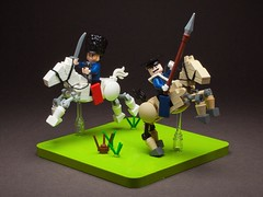 #10. Flashman at the Charge (workshysteve) Tags: light horse lego lord 11th charge cardigan articulated 17th brigade lancers hussars flashman