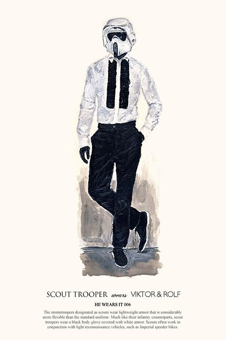 如果小丑、黑武士或超人穿著時尚名牌?