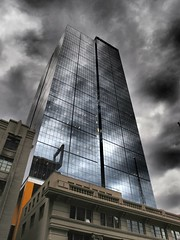 Ernst & Young Building, Melbourne (The BigBlueCat) Tags: dramatic melbourne reflectyourworld olympusxz1