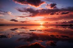 Xerokampos (Christos Tsoumplekas (Back again!)) Tags: sea lake reflection clouds sunrise landscape ngc sitia lasithi zakros xerokampos