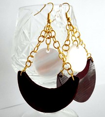Upcycled chandelier earrings (d'ekoprojects) Tags: recycled handmade jewelry ecofriendly handmadejewelry ecofashion handmadeearrings upcycled ecochic recycledjewelry recycledjewellery industrialjewelry ecofriendlyjewelry recycledearrings upcycledjewelry recycledplasticbottle upcycledearrings