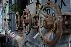 Old train lot (Bjrn O) Tags: lostplace verlasseneorte lost place abandoned verlassen industrie industry tiefenschrfe schrfentiefe handle urbex urban urbanexploration berlin