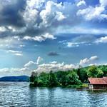 On the lake dam at Brombachsee thumbnail