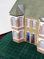 Building work...... (kingsway john) Tags: 176 scale card model terraced house oo gauge building kit kingsway models craft hobby