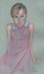 Twiggy (caseyelaineart) Tags: color pencil art artwork drawing twiggy model fashion artist