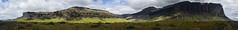 Vk  Mrdal (Landscapeography) Tags: iceland skogar hfn panorama sun mountain cliff green color bush bushes blue sky clouds road trip gravel