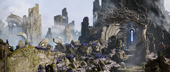 Heart of the Paragon ( alt. version) (SmileOrangeee) Tags: paragon landscape panorama mountain moba tree