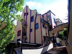 Housing complex in Plochingen by F. Hundertwasser (Sokleine) Tags: hundertwasser housing house complex architecture colours plochingen badenwrttemberg germany allemagne deutschland