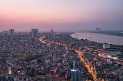 Hanoian Sunset (edin86) Tags: hanoi vietnam asia cityscape skyline sunset urban river redriver view lumixg7 microfourthirds