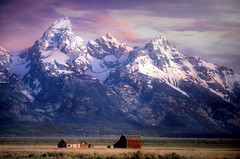 insignificant (karenhunnicutt) Tags: grandtetons mornonrow nationalpark wyoming mountains barn farm west karenmeyere karenmeyer karenhunnicutt karenhunnicuttphotographycom minneapolisfineartphotographer