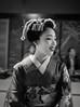 Mamefuji, Looking Glamorous in Monochrome (Rekishi no Tabi) Tags: mamefuji maiko apprenticegeiko apprenticegeisha gion gionkobu kyoto japan monochrome leica