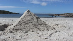 Pyramid (mcginley2012) Tags: pyramid sand whitesand thewildatlanticway clifden summer2016 sandsculpture