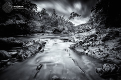 Lazy River (MacLeanPhotographic) Tags: fujifilm highlands landscape scotland xt2 xf1024mmf4 leebigstopper glenlochay riverlochay lee 09 nd soft grad mono blackandwhite water river
