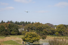 A SMALL AIRPORT, SOME PARKS AND CLOUDS - XLV (Jussi Salmiakkinen (JUNJI SUDA)) Tags: chofu tokyo japan cityscape park airport sky cloud aircraft wood airplane autumn landscape