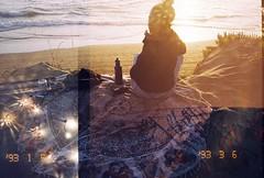 Sunset girl (Velvet Bandit) Tags: natura classica 35mm destroyed film damaged double exposure exposed painting filmsoak filmsoup doubleexposed doubleexposure multipleexposures