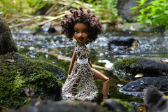 I will come to your river, wash my soul again. (TropicoNative) Tags: river forest wood water bratz doll mgae sasha designedby kasatka photoshoot nature ibeyi