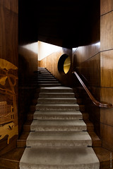 Eltham Palace Staircase (Ian Smith (Studio72)) Tags: canon60d canon1018mm uk england london eltham elthampalace stairs staircase steps lookingup interior design artdeco architecture wood panelling carpet banister shadows light contrast natural studio72 englishheritage