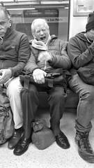 Estado Pasajero (Mar Cifuentes) Tags: noireetblanc portrait art street people bw new metro subte subway chile blancoynegro retrato ciudad city santiago santiagodechile