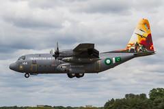 Pakistan AF Lockheed C-130E Hercules 144 (Hugh Dodson) Tags: riat riat2016 wednesday pakistanaf lockheed c130e hercules 144 specialmarks