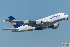Lufthansa Airbus A380-841 D-AIML Hamburg (714545) (Thomas Becker) Tags: lufthansa dlh airbus a380841 a380800 a380 daiml hamburg staralliance msn 149 021213 fwwsx 050514 lh400 newyork jfk fraport flughafen airport aeroport aeropuerto aeroporto fra eddf frankfurt plane spotting aircraft airplane avion aeroplano aereo  vliegtuig aviao  samolot flugzeug germany deutschland hessen rheinmain nikon d7200 nikkor 80400g dx raw gps aviationphoto cthomasbecker 160817 departure geotagged geo:lat=50039523 geo:lon=8596970 aerotagged aero:airline=dlh aero:man=airbus aero:model=a380 aero:series=800 aero:tail=daiml aero:airport=eddf
