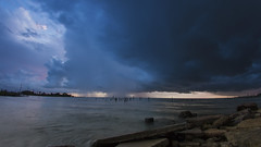 Storms Coming (IndieDirk) Tags: storm texas morning sunrise rain seabrook canon 7d timelapse dark clouds weather