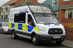 Northumbria Police Ford Transit Public Order Van (PFB-999) Tags: northumbria norpol police ford transit public order van vehicle unit pov psu support light modules grilles fenoffs sidelights leds ex15ymh sunderland airshow 2016