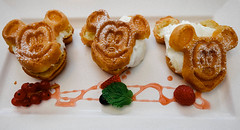 Mickey Mouse Waffles (joelleardona) Tags: disneyland food hongkong mickeymouse cafe indoor whitebackground