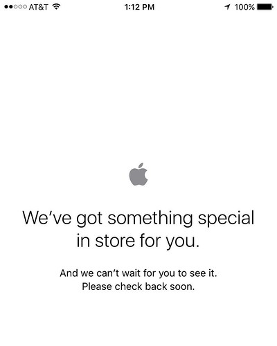 When you're just trying to order your #iphone7 | no matter what the #AppleEvent says or how much it costs...