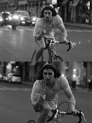 [La Mia Citt][Pedala] V di Vittoria (?) (Urca) Tags: milano italia 2016 bicicletta pedalare ciclista ritrattostradale portrait dittico nikondigitale mir biancoenero blackandwhite bn bw 889102 vittoria