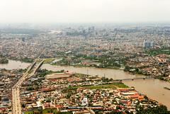 Ho Chi Minh City (fesign) Tags: aerialview architecture brown buildingexterior city cloudsky colourimage curves day hochiminhcity horizontal mekongdelta nopeople orange outdoors photography river rivermekong saigon traveldestinations vietnam