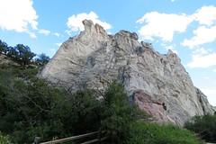 Whitewashed (Patricia Henschen) Tags: gardenofthegods city park colorado coloradosprings clouds mountain centralgarden redrocks rocks urban red
