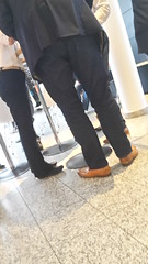 Mr. Perfect - tan loafers! 04 (TBTAOTW2011) Tags: businessman business man mature belly glasses suit tan loafers loafer shoe shoes leather walking feet foot hidden camera candid handsome