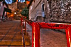 stair (izelozz) Tags: stair oldstair red redrailing trip old houses stone turkey trkiye tire derekahve merdiven krmz eskievler taduvar ta izmir