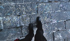 paint extras and my shoes (hshatlden) Tags: shoes walkingtrail minnehaha nikontop nikonphotograph nikond3100 nikon 2016 mn minnesota minneapolis