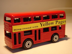 HTI LEYLAND TITAN NO84 YELLOW PAGES REALTOY COPY 1/64 (ambassador84 OVER 6 MILLION VIEWS. :-)) Tags: hti matchbox realtoy leylandtitan britishleyland bus diecast