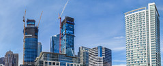 folsom street skyline panorama (pbo31) Tags: sanfrancisco california september fall 2016 boury pbo31 nikon d810 color panoramic stitched large panorama construction skyline city rinconhill folsomstreet blue urban contemporary architecture salesforce tower 181 fremont cranes