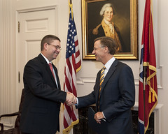 6-15-16 Governor Bill Haslam swears in Tony Parker as the new Commissioner of Corrections (tdoc.communications) Tags: governorbillhaslam commissionerofcorrectionstonyparker chiefoperatingofficergregadams deputytothegovernorjimhenry june nashville statecapitol 2016 tn usa