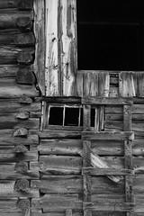 Ranch building (Don McCullough) Tags: ranch bw barn canon montana logcabin