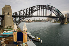 (MagdaBis) Tags: city water icons view harbour famous sydney australia nsw lunapark omd sydneyoperahouse sydneyharbourbridge olympusomd