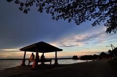 Wakaf (The JASS) Tags: blue sunset color colour nature landscape mas dusk malaysia johor emas senja muar tanjung wakaf jasni