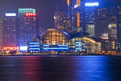 Hong Kong (Tommaso Petruzzi ) Tags: ocean china city trip blue sea glass ferry night buildings river hongkong lights star boat nikon asia ship blu south chinese future nikkor kowloon cina sud 2012