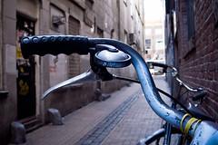 handlebar (Jos Mecklenfeld) Tags: bike cycle handlebar groningen ricoh fiets stuur fietsstuur gx200 ricohgx200 papengang