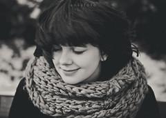 paulina. (anksfoto) Tags: portrait blackandwhite bw girl canon hair blackwhite 2470l 2470mm canon60d