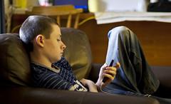 Teenager (johnpcarr1) Tags: ipod teenager