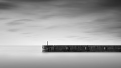 Reach (Russ Barnes Photography) Tags: longexposure sea blackandwhite beach wall landscape photography mono coast pier nikon brighton monochromatic workshop eastsussex breaker shorehambysea d800 tiltshift leefilters 10stopndfilter russbarnes leebigstopper nikkor45mmpce