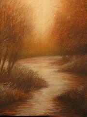 Morning Mist (danielkbalter@gmail.com) Tags: morning mist art river chalk pastel danielbalter
