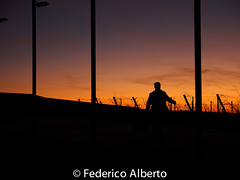 Long Walk to Freedom (Federico Alberto) Tags: winter sunset portrait sky espaa orange man backlight contraluz walking landscape atardecer libertad freedom golden spain retrato hiver paisaje olympus ciel libert cielo invierno puestadesol es nophotoshop paysage bodegas hombre homme omd dorado portia caminando castilla an