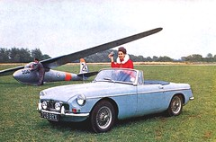 Vintage glider and MGB (stvclif1) Tags: vintage mg advertisement advertisements mgb advertise vintageads