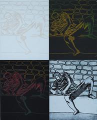 Betos (grobas) Tags: boy white man black brick art blanco arte negro chico ladrillos hombre grabado etchings impreso simultaneo aguafuerte aguatinta aquafortis
